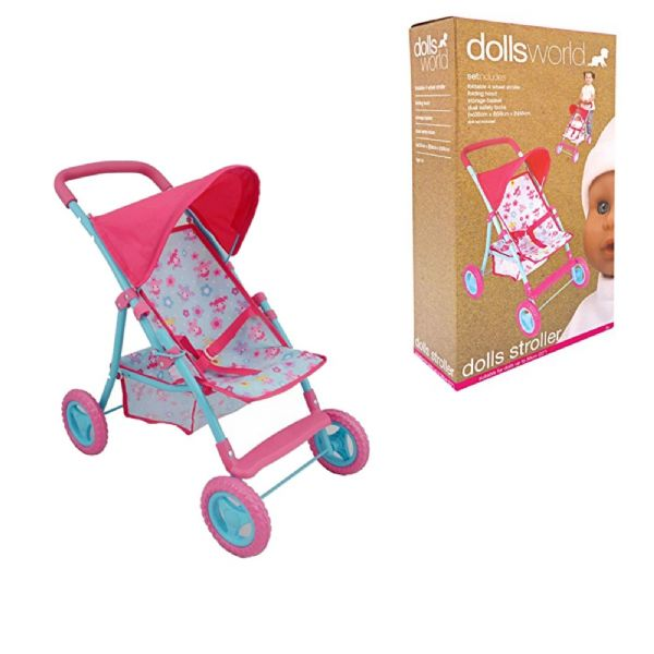Dolls World Deluxe Dolls Stroller Push Chair  For Toy Dolls up to 56cm